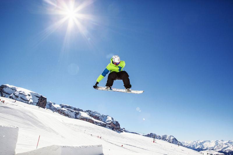 The best snowpark in the Dolomites: Ursus Snowpark in Madonna di Campiglio